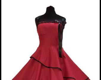 Wow super sweet Petticoat evening dress!