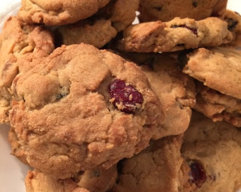 Cranberry White Chocolate Chip Cookies Homemade One Pound