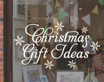 Christmas Gift Ideas Shop Window Display Sticker H716K