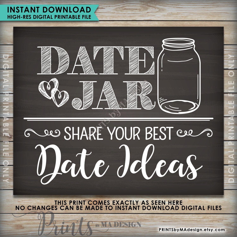 date jar sign date ideas jar share your best date ideas wedding