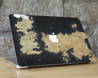 Game of Thrones Macbook Skin, Game of Thrones, Westerns Skin, Game of Thrones Map, Macbook Sticker, Macbook Skin, For all Macbook Models