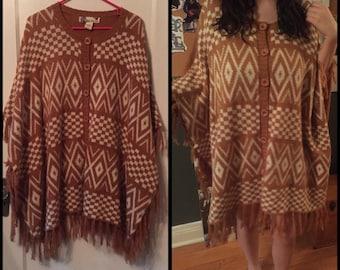 Crochet Sweater Hippie Festival Shawl Poncho Dress