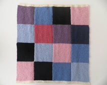 Baby square blanket  with square pattern