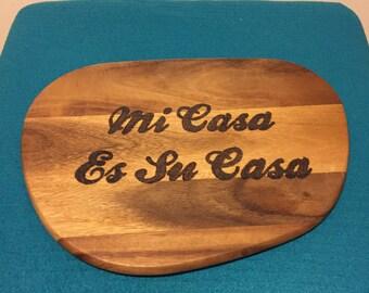 Mi Casa Es Su Casa Large chopping board