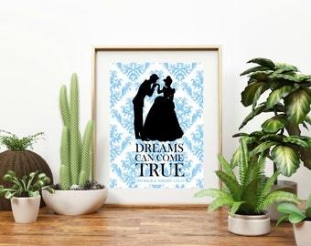 "Personalized ""Cinderella Dreams Can Come True"" Wall Art"