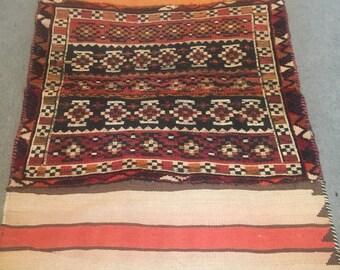 Kurdish open saddlebag rug 88x130cm#b3