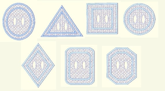 Geometric lace napkin rings machine embroidery designs