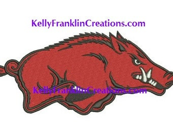 Arkansas Razorback embroidery