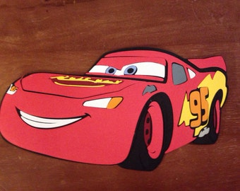 Lightning McQueen die cut from Cars