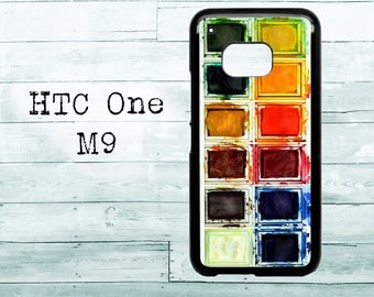 Used watercolors phone cover - HTC One M8/M9 case - color watercolors HTC One case, HTC cover