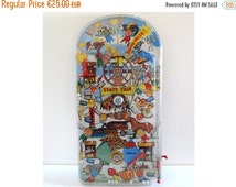 ON SALE Vintage Pinball from the 70s - Vintage Bar Decor or Kids Toy