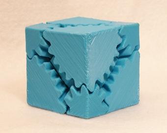 Fidget Widget Gear Cube Teal Blue (Free Shipping)