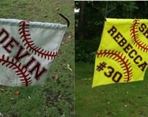 Personalized Softball/Baseball Garden flag