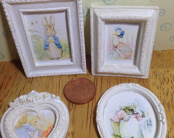 Dolls house Beatrix potter framed print, 4 to choose from 1/12 scale