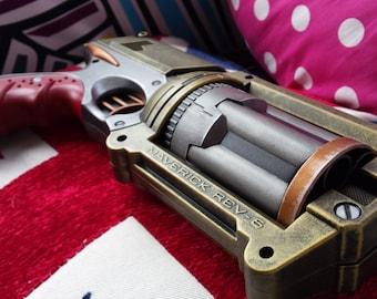Nerf Maverick Steampunk Steel Painted Officers Pistol