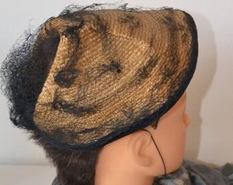 Vintage 50s woman hat, hat