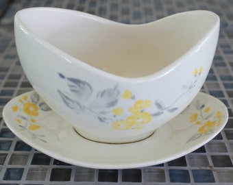 Red Wing  Lupine Gravy boat with attached underplate