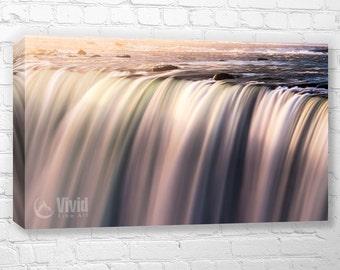 Waterfall abstract canvas art print, Niagara Falls, large canvas, 48 36 wide, canvas panels, waterfall print, water wall art, water abstract