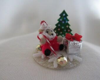 December bitty bear - Santa