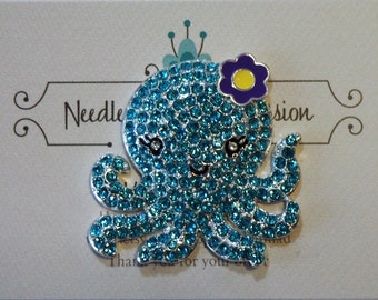 Blue Octopus Needle Minder