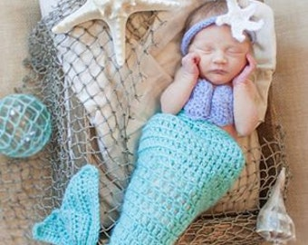 Baby Mermaid photo prop - outift
