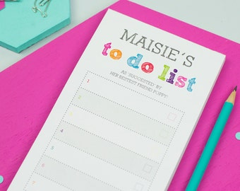 To Do List - Personalised To Do List - Personalized Notepad - Colourful Notepad - Custom To Do List - Custom Paper Pad - Back To School