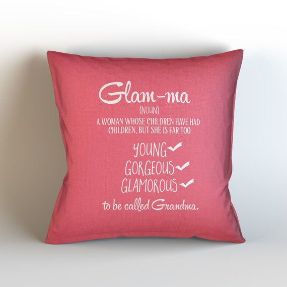 Throw Away Pillow Cases : GLAMMA / Deocrative Throw Pillow Case by KaliLaineDesigns on Etsy