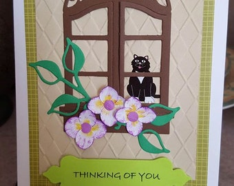 Thinking of You kitty card