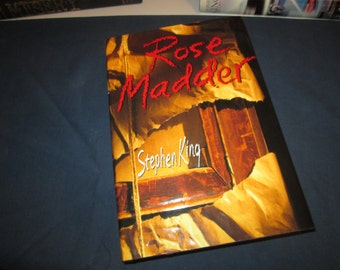 stephen king's .. ROSE MADDER .. first edition .. viking .. hard cover