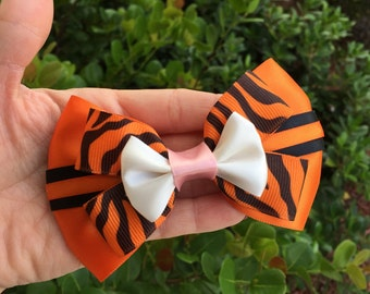 Tigger inspired hairbow