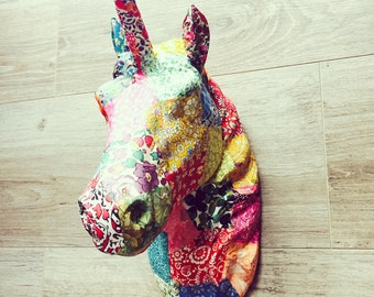 Liberty Print Unicorn Head