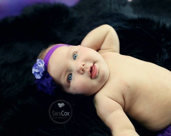 Purple/Lavender Kara Baby Flower Headband Photo Prop