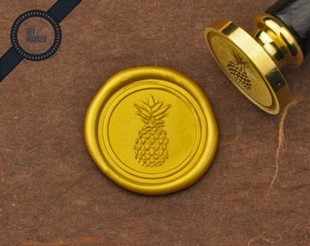 Pineapple 1 - Wax Seal Stamp by Get Marked (WS0271)