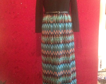 1970s vintage maxi dress