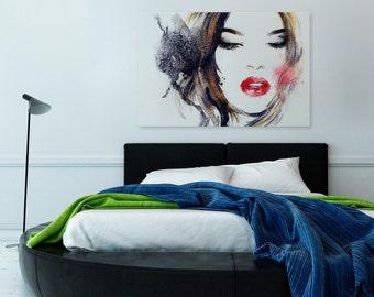 Canvas Print - WOMAN FACE - (21501)