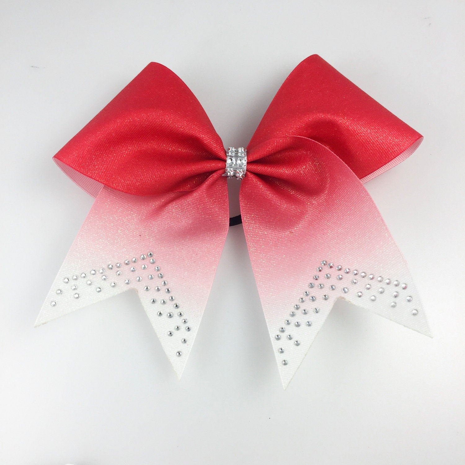 Red Glitter Ombre Cheer Bow Cheer Bows Red Cheer Bows