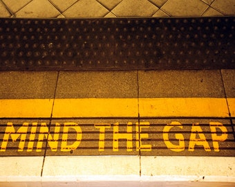 Color Photograph, Mind The Gap, London, England
