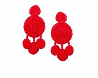 Flamenca earrings -RED