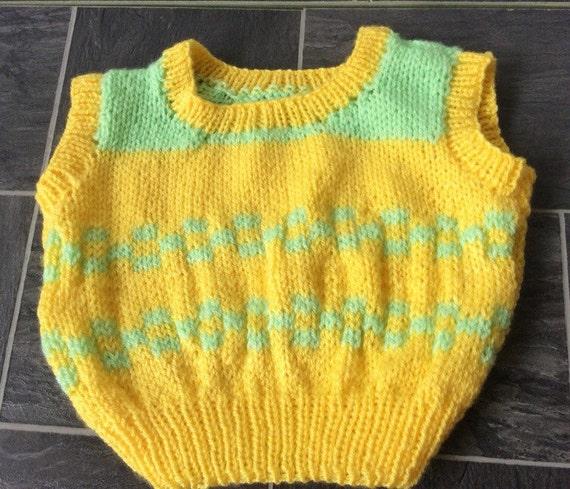 Knitting Pattern Baby Tank Top : Vintage Pattern Baby tank top baby sleeveless pullover baby