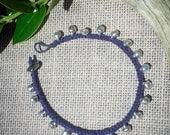 Customized Jingle Bell Hemp Anklets - India Silver Dancer Anklet - Color Organic Hemp Anklets - Plus Size Jewelry - Hippie Boho Gypsy Wear