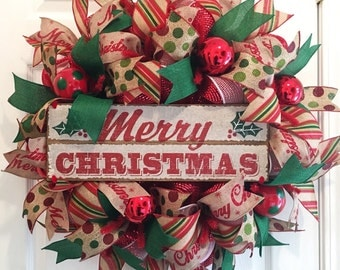 Christmas Wreath Merry Christmas Wreath Christmas Wreaths Merry Christmas Happy Holidays Christmas Decor