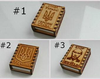 Ukrainian Souvenir Fridge Refrigerator wooden Magnet Box of matches Ukraine