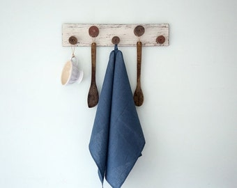 SALE 15% OFF Blue linen tea towels Set of two, Hand or dish towels