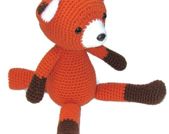 Crochet Fox, Amigurumi Fox, stuffed fox, woodland animal, crochet fox toy, fox stuffed animal, MADE TO ORDER