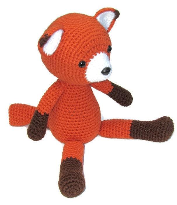 Amigurumi Fox : Crochet fox amigurumi stuffed woodland by