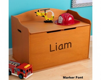 Modern Touch Personalized Toy Box - Honey