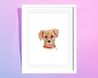 "Custom Watercolor Pet Portrait 6x8"""