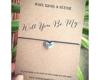 Wishuponastring Wish Bracelet Will You Be My Bridesmaid?