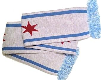 Chicago Flag Winter / Soccer Scarf (Cubs, Bears, Blackhawks, Fire, White Sox)
