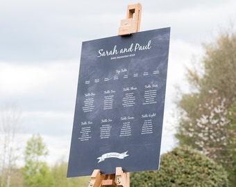 Chalkboard Vintage Wedding Table Plan / Seating Plan / Table Planner / Seating Chart